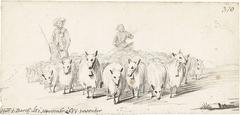 Twee jongens drijven een kudde schapen voort