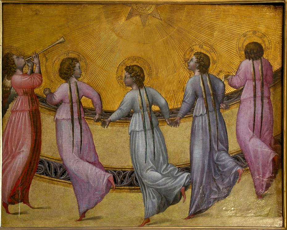 Five dancing angels