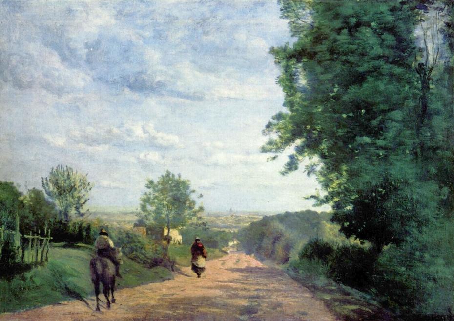 Le Chemin de Sèvres. Vue de Paris