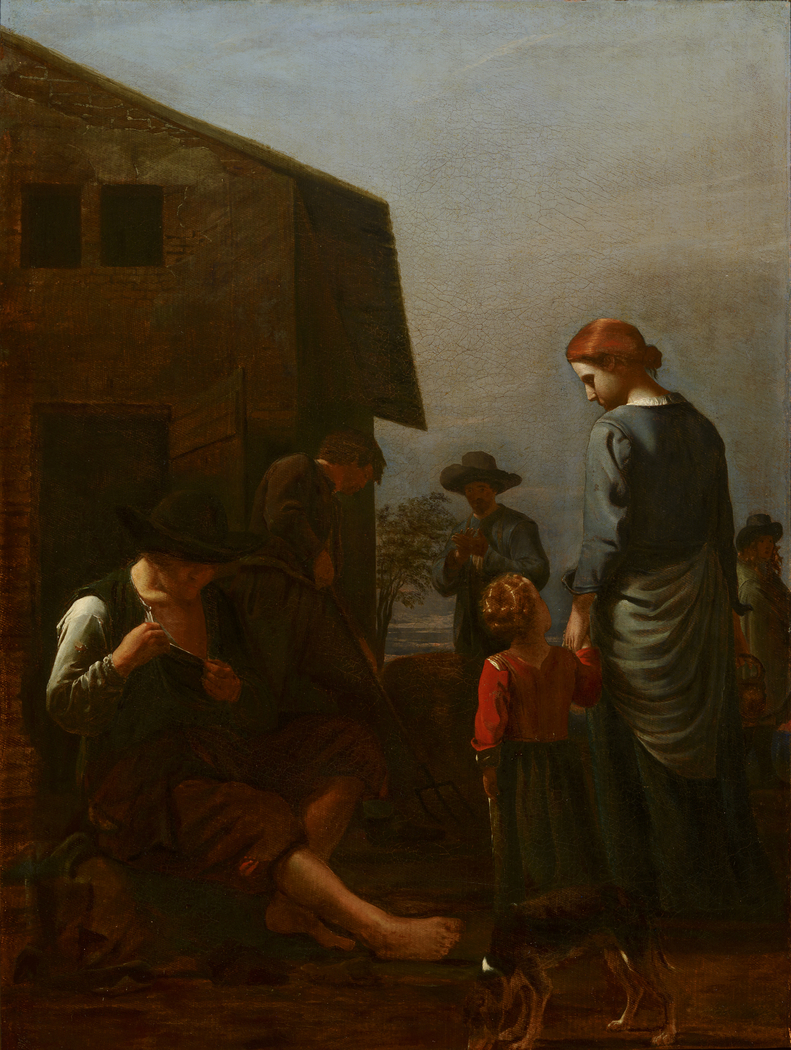 Peasant Family, with a Man Removing Fleas from Himself