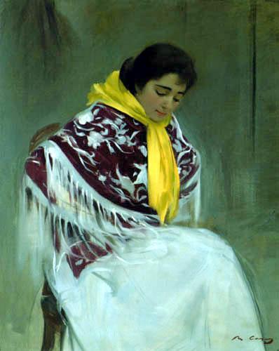 Woman with Yellow Scarf (El panuelo amarillo)