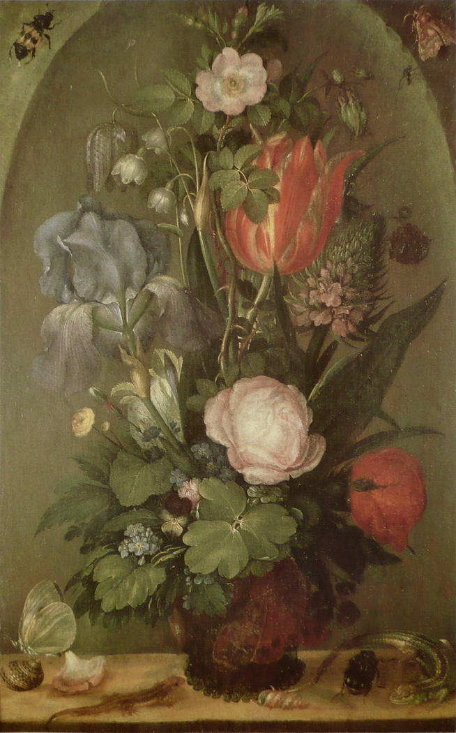 Bouquet of flowers with two Lizards