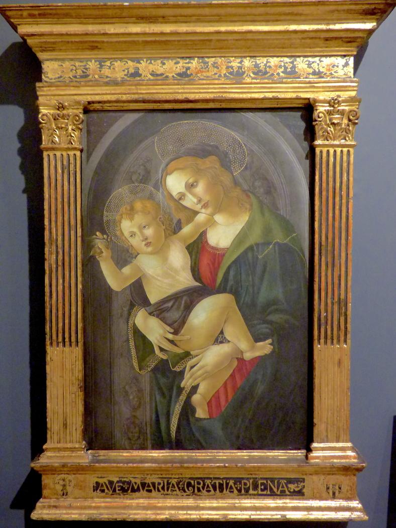 La Virgen y el Niño en un nicho