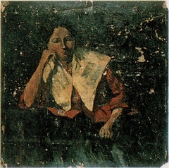 Portrait of a Woman with White Collar