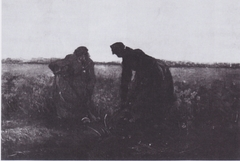 Two Peasant-women digging over