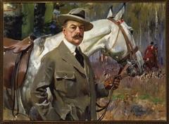 Autoportret z koniem na polowaniu