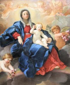 Vierge à l'Enfant entourée d'anges