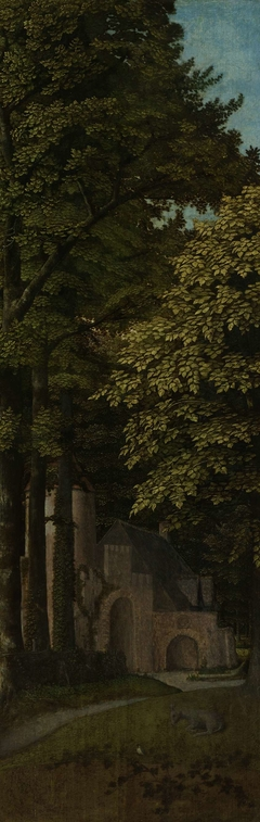 View in a Forest, Outer Left Wing of a Triptych