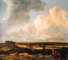View of the dunes near Bloemendaal with ruins in the foreground