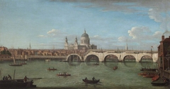 View of the Thames with Blackfriars Bridge and St Paul's Cathedral
