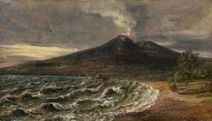 View of Vesuvius from the Coast of Castellammare