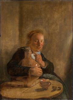 Woman Holding a Jug