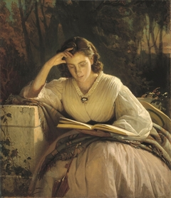 Woman Reading. Portrait of Sofia Kramskaya