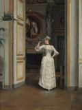 Woman with a Bird at the Castle of Maison Laffitte