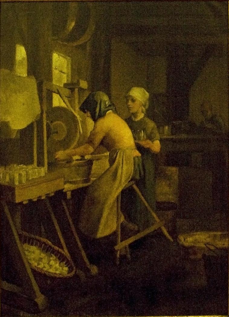 Women Working in a Glass Factory