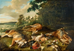 Wooded Landscape with a Game Still Life