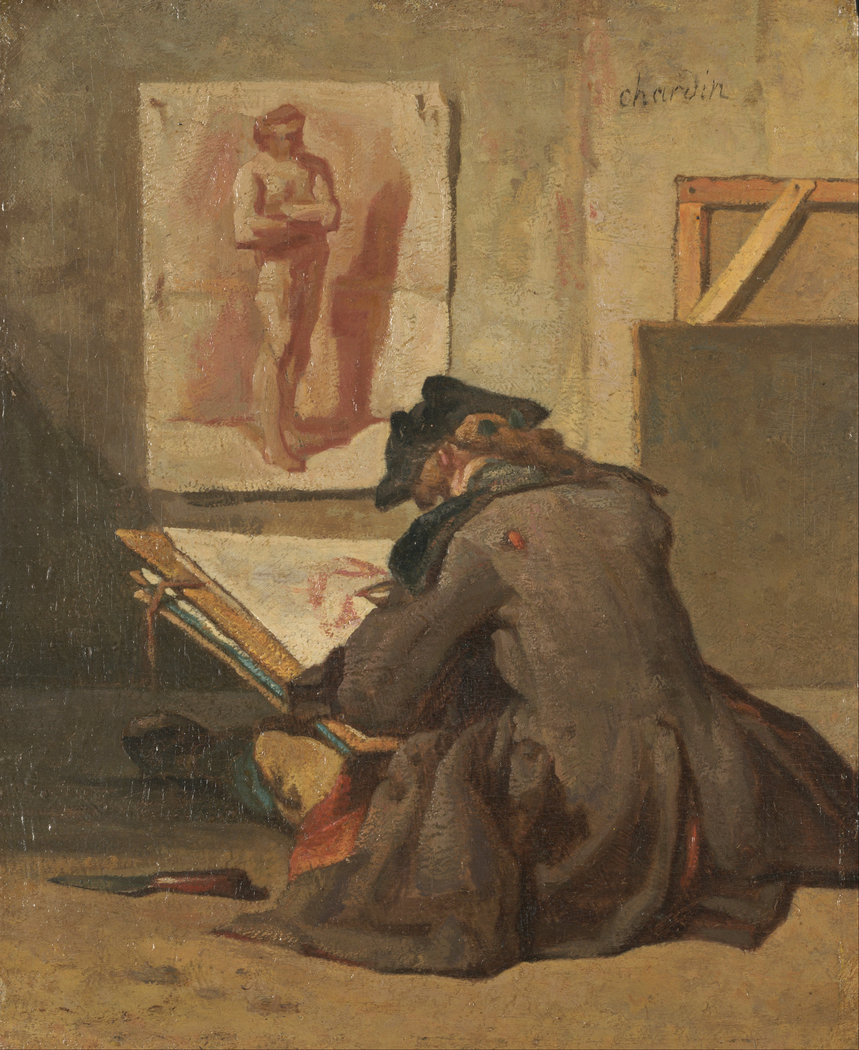 Young Student Drawing