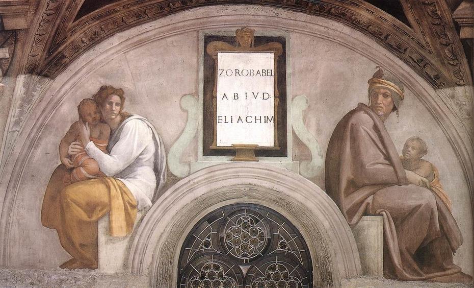Zerubbabel, Abiud and Eliakim