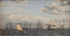 A Russian Fleet at Anchor near Elsinore