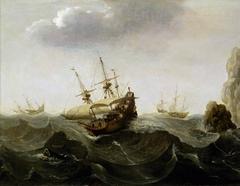 A Ship in a Rough Sea