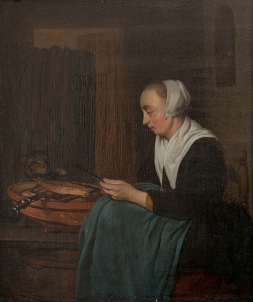 A Sleeping Saleswoman
