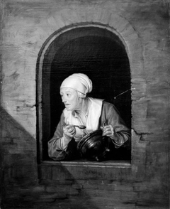 An Old Woman by a Window