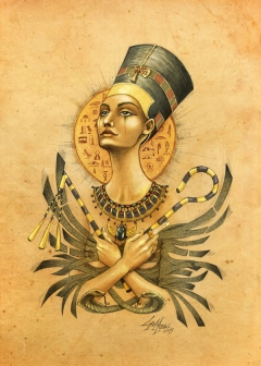 Ancient memories. Nefertiti.