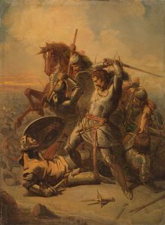 Anno 1345. Graaf Willem IV van Holland sneuvelt bij Warns