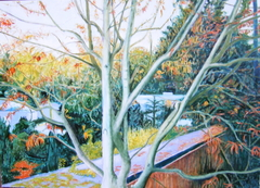 'Autumn - porn film location', (2006), oil on linen, 140 x 100 cm.