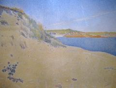 Beach at Saint-Briac By Paul Signac