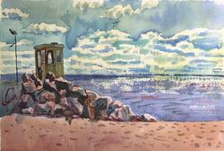 beach sketch