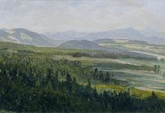"""Böhmisches Mittelgebirge (aus der Mappe """"16 Ansichten tschechischer Landschaften 'Česka Krajiná'"""")"""