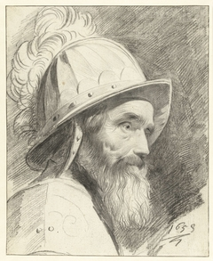 Buste van krijgsman met helm