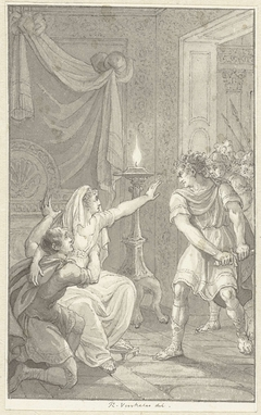 Caracalla vermoord zijn broer Geta in de slaapkamer van hun moeder