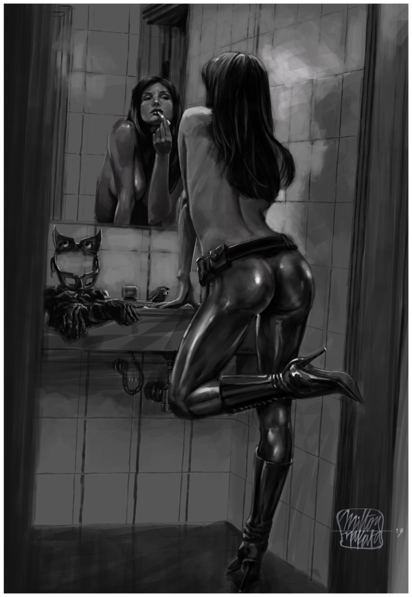 CATWOMAN - Getting ready to work