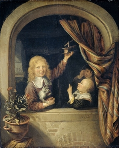 Children with a mousetrap
