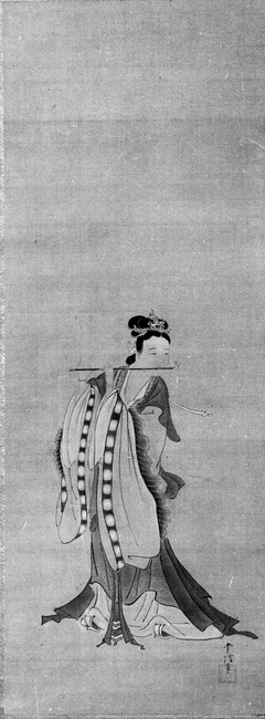 Chinese Lady Playing a Flute