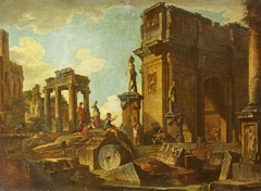 Classical Ruins with the Arch of Constantine
