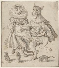 Dansende kat en hond