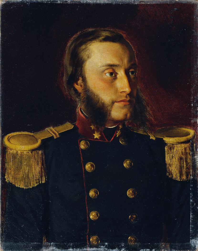 Der Schiffsbau-Ingenieur Josef von Romako als Oberleutnant