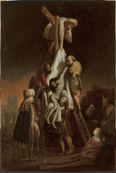 Descent from the Cross (Matthew 27:58–59; Mark 15: 45–46; Luke 23:52–53; John 19:38)