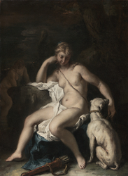 Diana and Her Dog