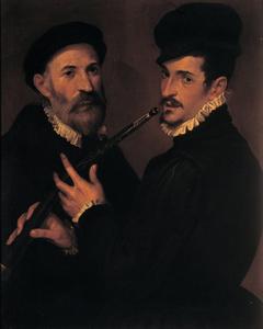 Double portrait of musicians