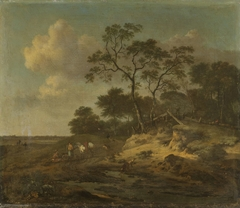 Dune Landscape with Hunters Resting