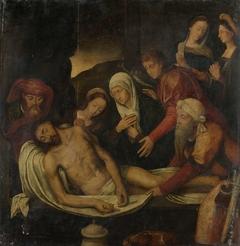 Entombment of Christ with Joseph of Arimathea and Nicodemus, Mary Magdalene, the Virgin and Saint John the Evangelist