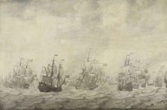 Episode from the Four Days' Battle, 11-14 June 1666, of the Second Anglo-Dutch War, 1665-67