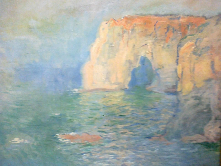 Étretat, the Manneporte, Reflection on Water