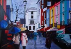 European Street. Rain.