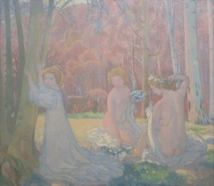 Figures in a Spring Landscape (Sacred Grove)