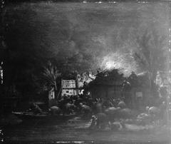 Fire Scene by Night